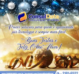 Boas Festas e Feliz 2020! São os votos da Equipe ConsulData aos parceiros, clientes e fornecedores. Confira o expediente: