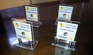 Os primeiros colocados foram reconhecidos com troféus