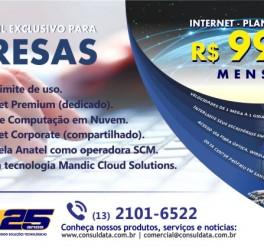 ConsulData disponibiliza Internet e E-mail exclusivo para empresas com planos a partir de R$ 99,00 mensais
