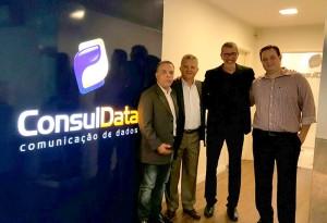 General Carvalho e Manuel Correia (ANSP), ao lado de Luís Carlos Tenório e Guilherme Passos (ConsulData)