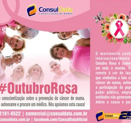 ConsulData participa das ações de conscientização e colabora na divulgação da campanha Outubro Rosa